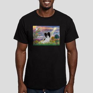 Cloud Angel & Papillon Men's Fitted T-Shirt (dark)