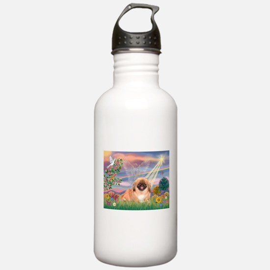 Cloud Angel / Pekingese(r&bm) Water Bottle