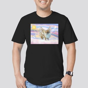 Clouds & Pomeranian Angel Men's Fitted T-Shirt (da