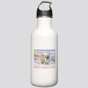 Clouds & Pomeranian Angel Stainless Water Bottle 1