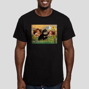 Angels / Pomeranian (b&t) Men's Fitted T-Shirt (da