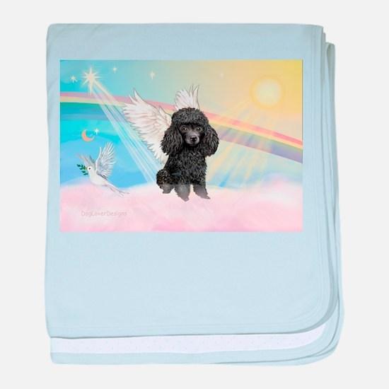Angel/Poodle(blk Toy/Min) baby blanket