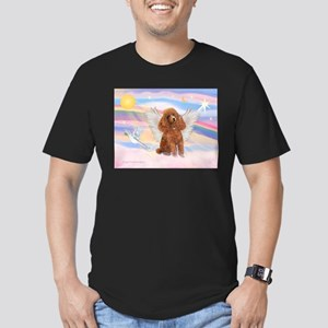 Angel/Poodle (Aprict Toy/Min) Men's Fitted T-Shirt