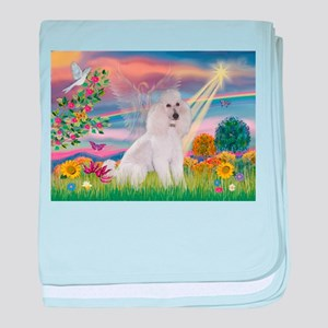 Cloud Angel White Poodle baby blanket