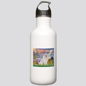 Cloud Angel White Poodle Stainless Water Bottle 1.