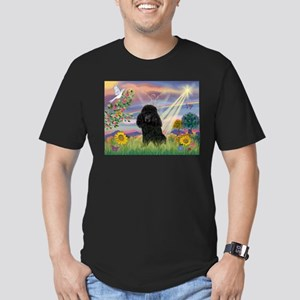 Cloud Angel / Poodle (blk#2) Men's Fitted T-Shirt