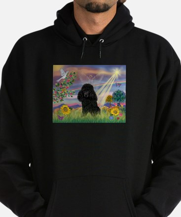Cloud Angel / Poodle (blk#2) Hoodie (dark)