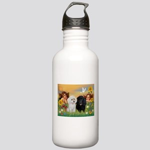 Two Angels/2 Poodles Stainless Water Bottle 1.0L
