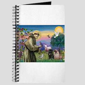 St. Francis & Pug Pair Journal