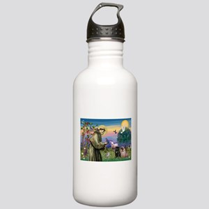 St. Francis & Pug Pair Stainless Water Bottle 1.0L