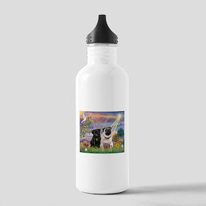 Cloud Angel & 2 Pugs Stainless Water Bottle 1.0L