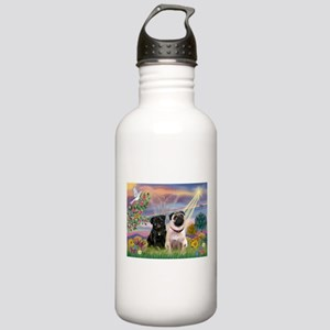 Cloud Angel & 2 Pugs Stainless Water Bottle 1.0L