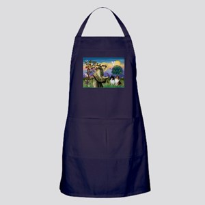 Saint Francis Sheltie Pair Apron (dark)