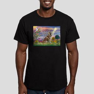 Cloud Angel & Husky Men's Fitted T-Shirt (dark)