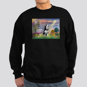 Cloud Angel / Siberian Husky Sweatshirt (dark)