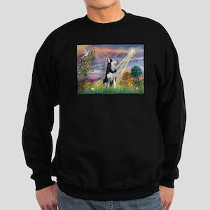 Cloud Angel / Siberian Husky Sweatshirt (dark)