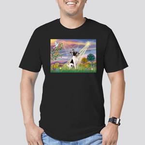 Cloud Angel /Toy Fox Terrier Men's Fitted T-Shirt