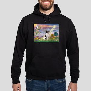 Cloud Angel /Toy Fox Terrier Hoodie (dark)