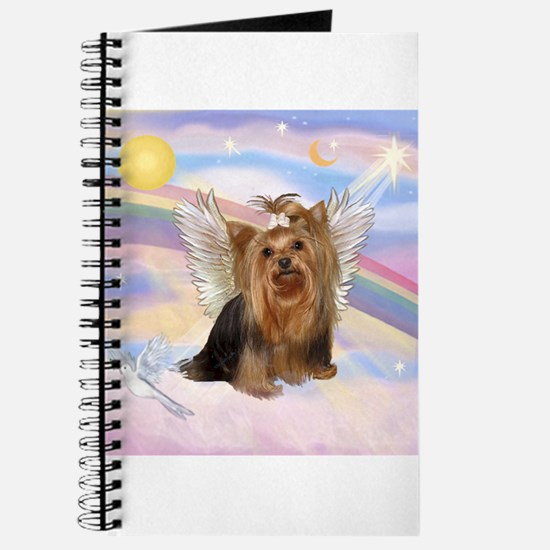 Yorkie Angel in Clouds Journal