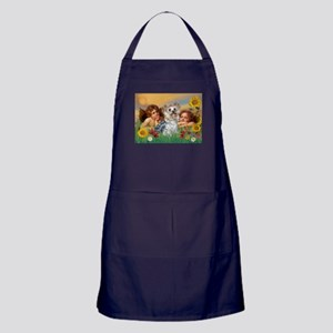 Angels with Yorkie Apron (dark)