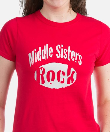 Middle Sisters Rock Women's Dark T-Shirt