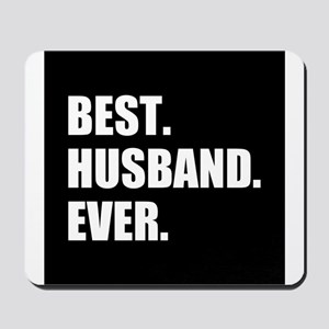 Black Best Husband Ever Mousepad
