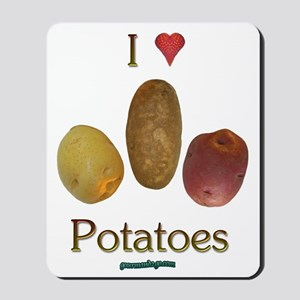 I Heart Potatoes Mousepad