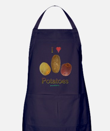 I Heart Potatoes Apron (dark)