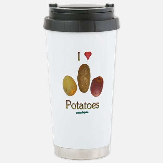 I Heart Potatoes Stainless Steel Travel Mug