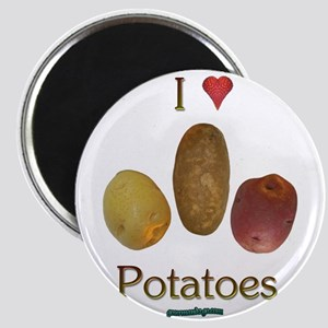 I Heart Potatoes Magnet