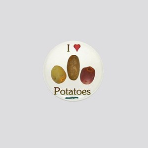 I Heart Potatoes Mini Button