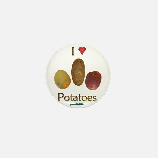I Heart Potatoes Mini Button