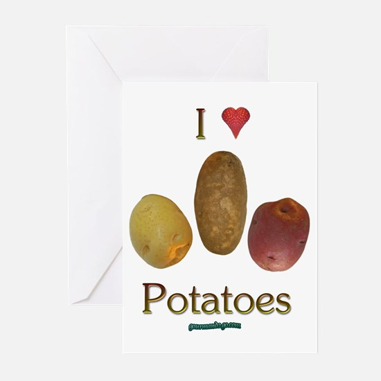 I Heart Potatoes Greeting Cards (Pk of 10)
