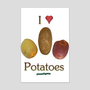 I Heart Potatoes Mini Poster Print