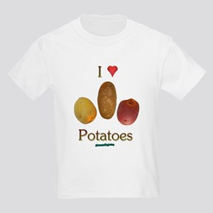 I Heart Potatoes Kids Light T-Shirt