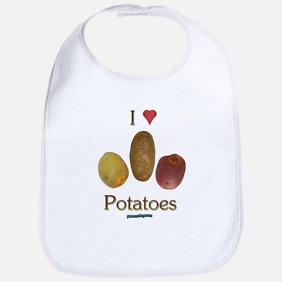 I Heart Potatoes Bib