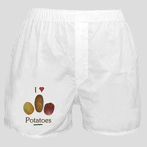 I Heart Potatoes Boxer Shorts