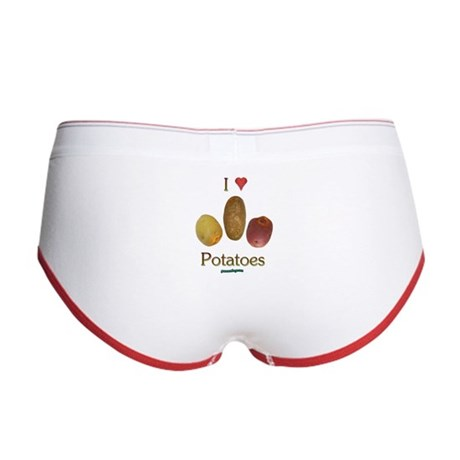 I Heart Potatoes Women's Boy Brief