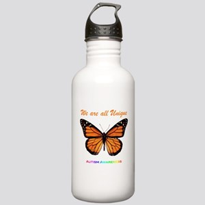 Butterfly: Autism Awareness Stainless Water Bottle
