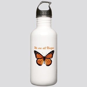 We Are All Unique: Butterfly Stainless Water Bottl