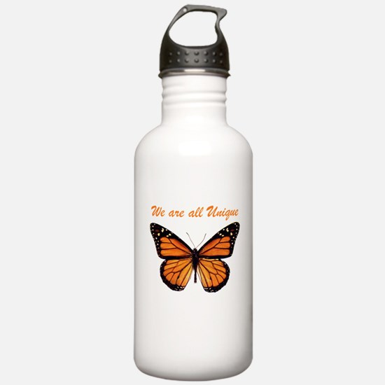 We Are All Unique: Butterfly Water Bottle