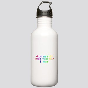White Just the Way I Am Stainless Water Bottle 1.0