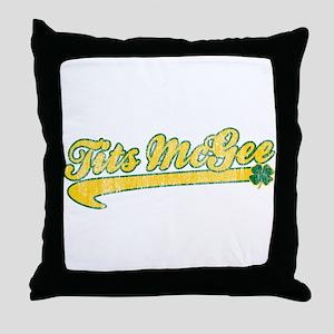 Tits McGee Throw Pillow