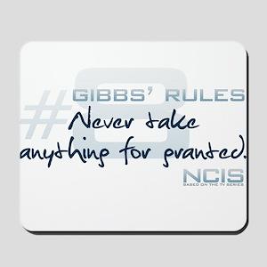 Gibbs' Rules #8 Mousepad