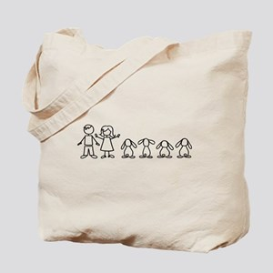 4 lop bunnies family Tote Bag