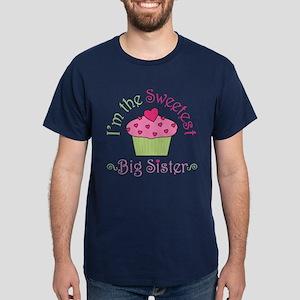 Sweetest Big Sister Dark T-Shirt