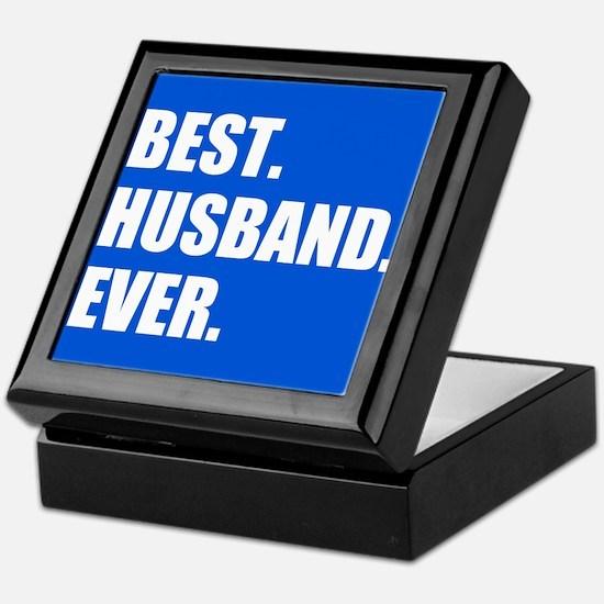Blue Best Husband Ever Keepsake Box