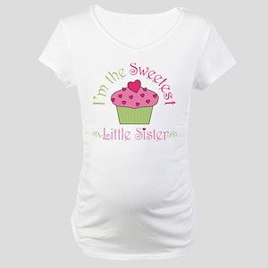 Sweet Little Sister Maternity T-Shirt
