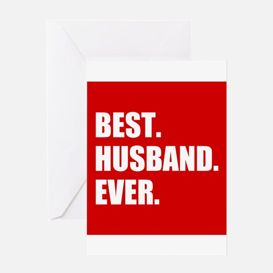 Red Best Husband Ever Greeting Cards