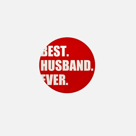 Red Best Husband Ever Mini Button